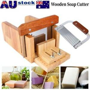 Handmade Soap Making Tools Wood Loaf Cutter Stainless Steel Wavy Cutting Kit KA