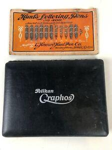 Vintage Pelikan Graphos technical drawing calligraphy pen and nib set in original case
