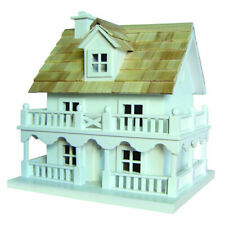 Birdhouse New Home Bazaar White Cottage With 2 Internal Compartments