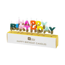 Happy Birthday Brights Rainbow Candles Childrens Party Cake Topper Decoration