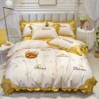Luxury Egyptian Cotton Bedding Set Sheets and Quilts Duvet Cover Pillowcases