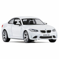 1:36 Scale BMW M2 Model Car Diecast Gift Toy Vehicle Kids Pull Back White