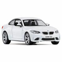 1:36 BMW M2 Die Cast Modellauto Auto Spielzeug Model Sammlung Pull Back Weiß