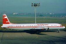 20x30 cm fotografia a colori/aereo una linee Airlines/Interflug il18 n. 608/1