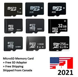 Micro SD Memory Card High Speed 2GB 4GB 8GB 16GB 32GB 64GB 128GB MicroSD C10 Lot