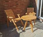 Wooden Outdoor Garden Furniture Set Two Chairs And Table  Top Quality