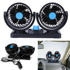 12V Portable Air Conditioner For Car Dual Head Plug In Vehicle Fan Dash Mount