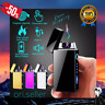 WINDPROOF ELECTRIC USB LIGHTER, Rechargeable Double ARC Flameless Plasma, GIFT
