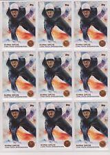 (9) 2014 TOPPS OLYMPIC SHANI DAVIS BRONZE CARD #22 LOT ~ SPEEDSKATING
