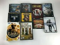Lot 9 PC Computer Games: Links Age of Empire III Aliens VS Predator Borg Crysis
