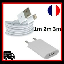 LOTS Cable usb Chargeur IPhone 5 6 7 7+ 8 8+ X+XR Prise adaptateur mural voyage