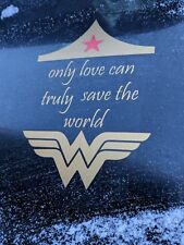 Wonder Woman Qoute Vinyl Car Decal Sticker Laptop Window