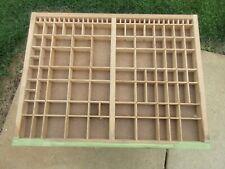 Letterpress 23rds Job Case Type Case Shadow Box D43