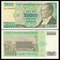 Turkey 50000 50,000 Lira, 1995, P-204, UNC