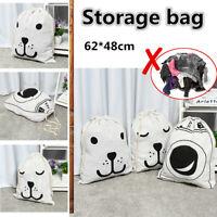 Cotton Sack Drawstring Storage Bag Toy Shoes Laundry Travel Stuff Clothes