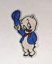 Looney Tunes Porky Pig Embroidered Iron On/Sew On Patch