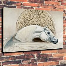 Art Canvas Prints Oil Painting Arabian Horses White Home Decor (Unframed)