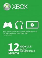 Microsoft Xbox Live Gold 12 Month Membership Card for Xbox One/360 europe only