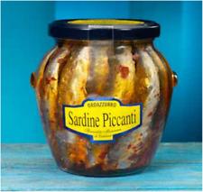 Sardines Épicé en Huile de Tournesol - Spécialité Calabrese - Vase de 580 Gr