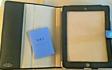Smythson Of Bond Street iPad Case - NEW -  Black Saffiano Leather Standing cover