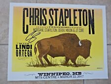 Chris Stapleton Winnipeg MB Signed Auto'd Poster Lithograph PSA BAS Guaranteed