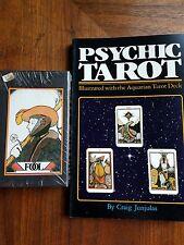 NEW SEALED Vintage 1970 Aquarian Tarot deck cards AND PSYCHIC TAROT BOOK