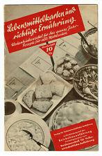 Lebensmittelkarten und richtige Ernährung, Kochbuch, Rezepte, Heft ca. 1943