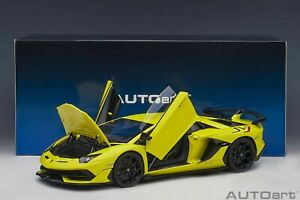 AUTOART Lamborghini Aventador SVJ Giallo Tenerife 1:18*Brand New! VERY NICE!!