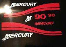 Mercury Outboard Engine Decals  Marine Vinyl set Red   40- 50 - 60- 75 or 90 HP