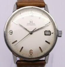 VINTAGE c.1964 Omega Automatic Mens 34.5mm Steel Watch c.560 ref.166.002 w Date