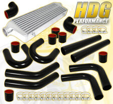 "27.5""X7.25""X2.5"" Front Mount Intercooler+2.5"" T6061 Aluminum Pipe Piping Kit Red"