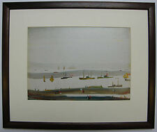 L.S Lowry THE ESTUARY, 1956-59  Framed Print