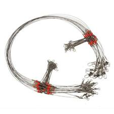 10 Pcs Fishing Wire Leader Trace With Snap Fit various fishing conditions Hot