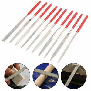 10X Mini Diamond Needle Files Ultra-thin Flat File for Polishing Wood Glass Tool