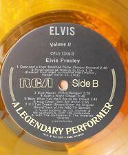 Elvis A Legendary Performer Volume 2 Rare Yellow Vinyl LP Record Album w/ Book
