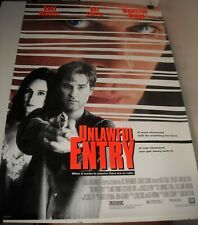 ROLLED 1992 UNLAWFUL ENTRY 1 SHEET MOVIE POSTER 2 SIDED KURT RUSSELL RAY LIOTTA