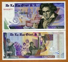 De La Rue GIORI, Test / Advertising note / Specimen Varinota, Type 1 > Beethoven