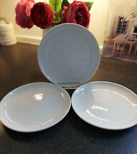 Jamie Oliver 3 White Royal Worcester Side Kick, Tea Plates