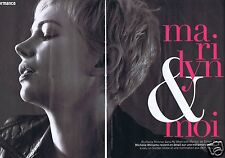 Coupure de presse Clipping 2012 Michelle Williams  (4 pages)
