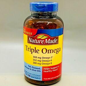 Nature Made Triple Omega 3-6-9 170 Softdels EXp 1/23+