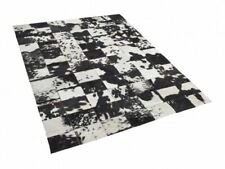 NEW Cowhide Rug Patchwork Cowskin Cow Hide Leather Carpet. Black Salt and Pepper