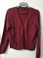 Atmosphere Long Sleeve Dark Red Cardigan Size 18