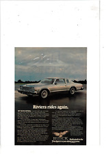 1977 BUICK RIVIERA 2 DOOR 14TH RIVIERA MODEL 1963 MODEL IN THE SKY AD PRINT H587