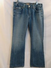 YANUK 6-POCKET CLASSIC Boot Cut Distressed Whiskered Jeans Size 31