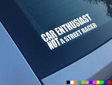 Entusiasta del coche no Street Racer Auto Adhesivo Funny calcomanía Jdm usdm Jap Drift Dub