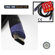 CABLE HDMI BLINDE OR LONGUEUR 150 CM FULL HD LCD PLASMA LED HOME CINEMA BLU RAY