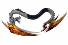 Fantasy Dragon Dagger Dragon Graphic Stainless Steel Blade Aluminum Handle New