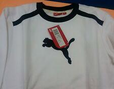 Felpa puma bianca con logo blu taglia xs coc.puma 801179 06