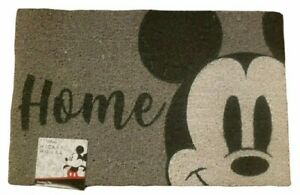 Disney Mickey Mouse Home Welcome Mat Gray Black Doormat Entry 18×28 Outdoor NEW