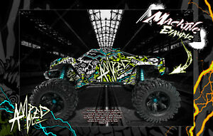 TRAXXAS X-MAXX GRAPHICS WRAP 'AMPED' FITS STOCK & PRO-LINE BRUTE BASH / RAPTOR